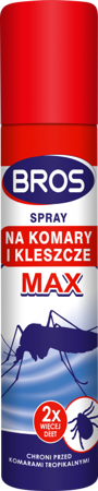 Bros Spray na komary i kleszcze Max 90ml