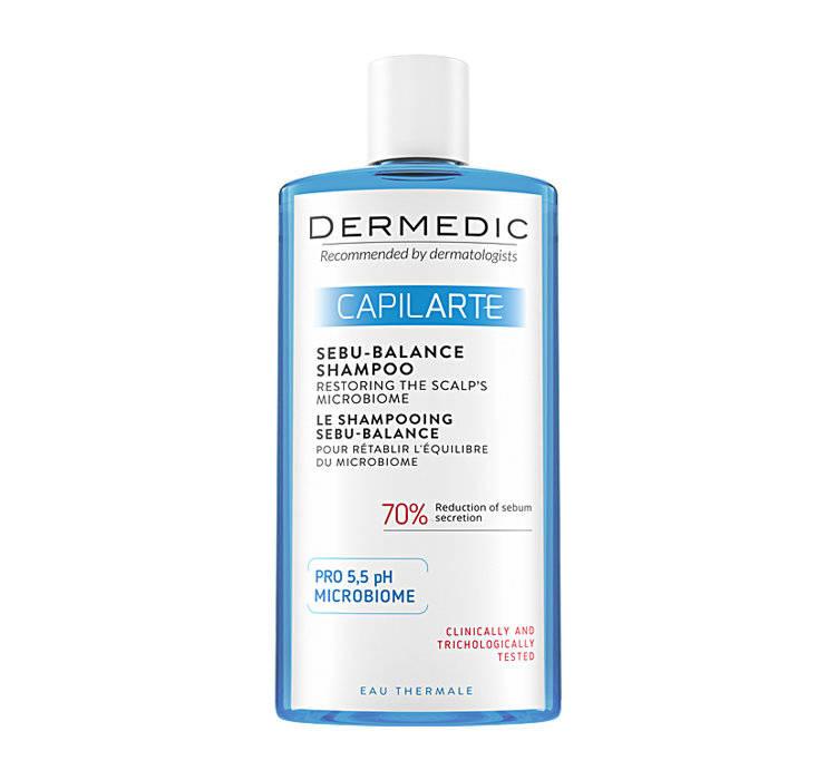 Dermedic Capilarte szampon Sebu-balance przywracający równowagę mikrobiomu skóry 300 ml