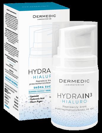 Dermedic Hydrain3 Hialuro krem naprawczy na zmarszczki na noc 55g