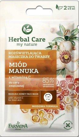 Herbal Care Maseczka rozświetlająca MIÓD MANUKA 2x5 ml