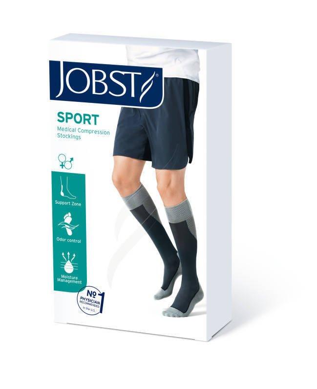 Jobst Sport podkolanówki zamknięte palce 15-20mmHg różowy/szary l