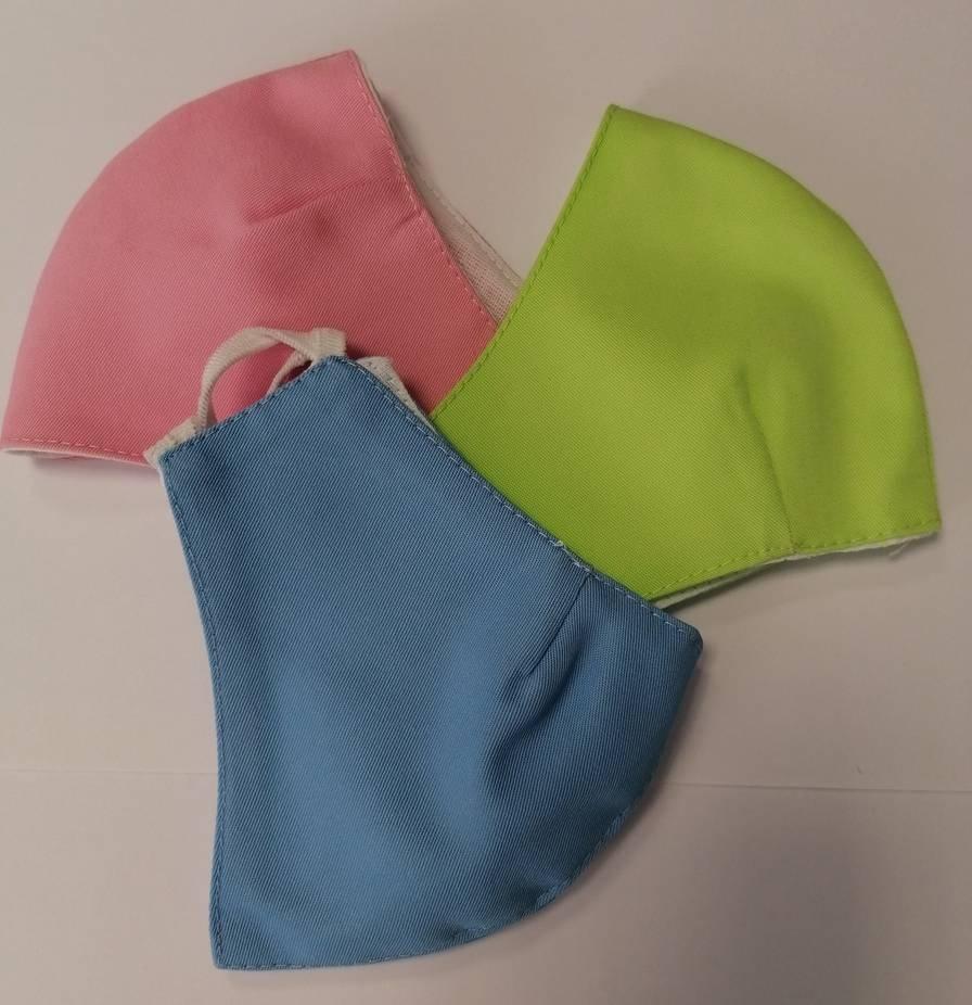 Maseczka uniwersalna bawełniana dla dzieci kolor seledynowy