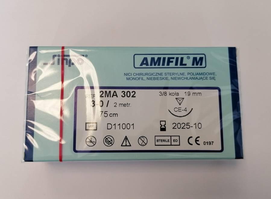 Nici chirurgiczne Amifil z igłą 3-0/75cm 10 szt