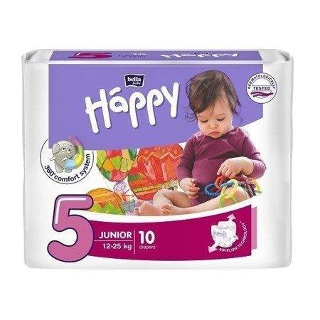 Pieluszki dla dzieci Happy Junior 10 SZT