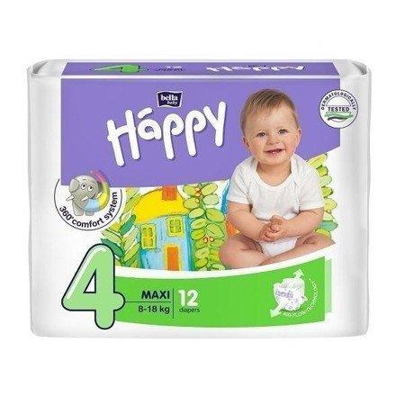 Pieluszki dla dzieci Happy Maxi 12 SZT