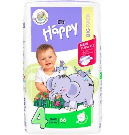 Pieluszki dla dzieci Happy Maxi 66 SZT