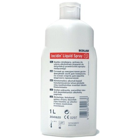 Płyn Bakteriobójczy Incidin Liquid Spray 1L