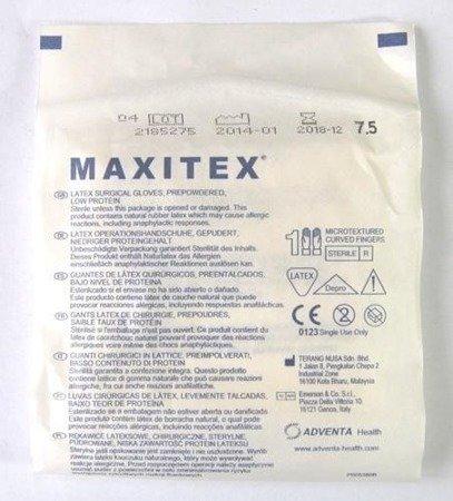 Rękawice Chirurgicz. Sterylne pudrowane Maxitex ,0