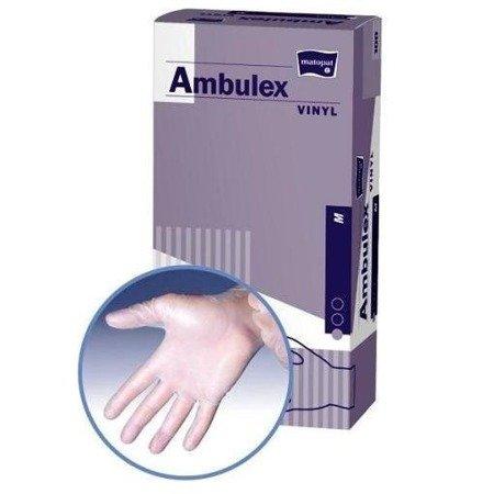 Rękawice niejałowe Ambulex vinylowe pudrowane