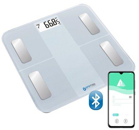 Waga analityczna szklana BLUETOOTH USB biała