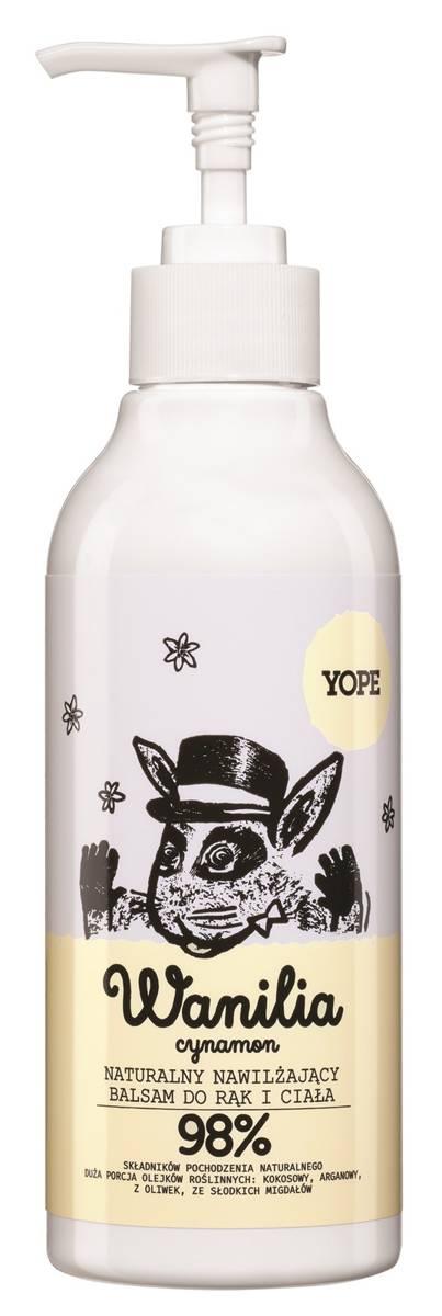 YOPE balsam do rąk i ciała wanilia i cynamon 300 ml