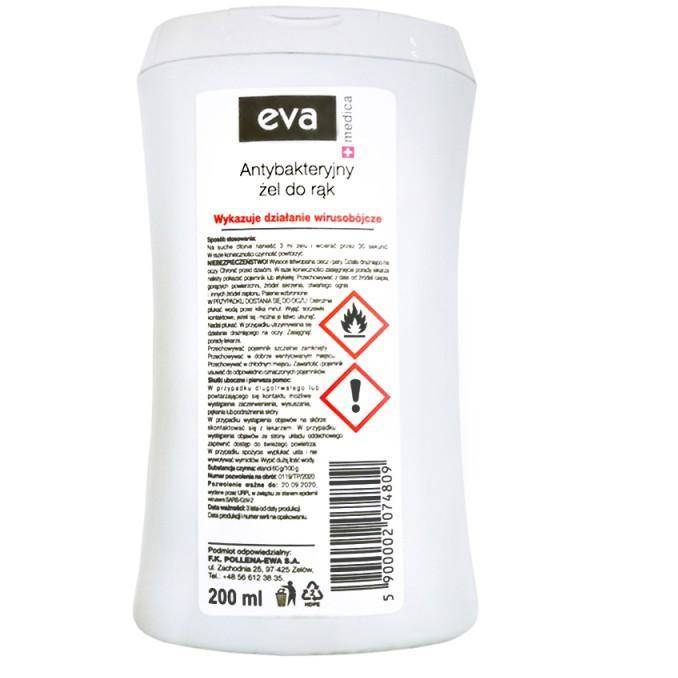 Eva Medica żel antybakteryjny do rąk 200ml