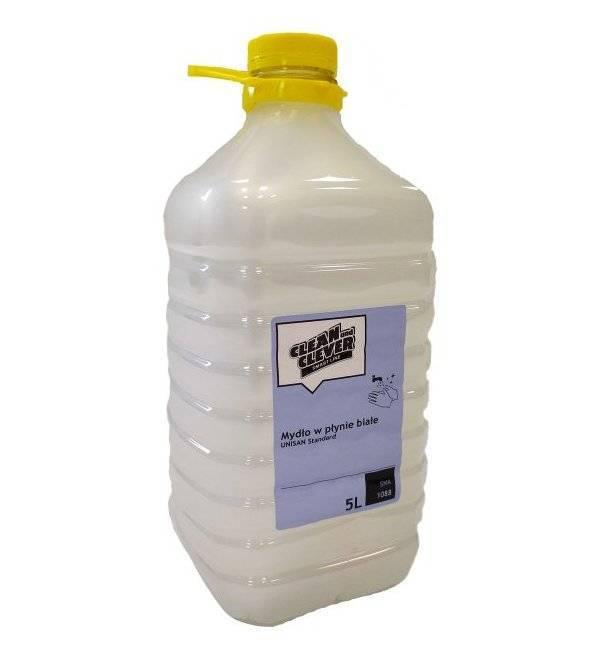 Mydło antybakteryjne w płynie białe bezzapachowe Unisan standard 5l