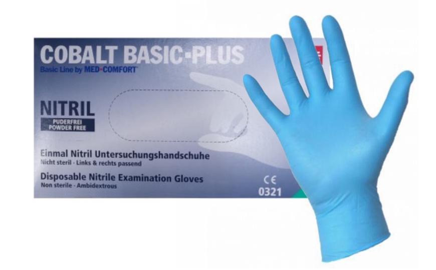 Rękawiczki nitrylowe Cobalt basic plus rozmiar M 200 szt