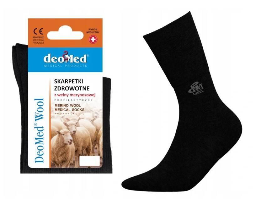 Skarpetki zdrowotne Deomed Wool czarne